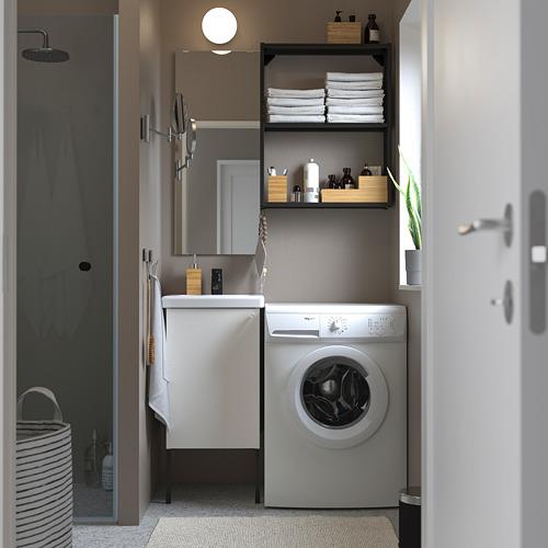 TVÄLLEN/ENHET - 浴室貯物組合 10件裝, white/anthracite Saljen tap | IKEA 香港及澳門 - PE810572_S4
