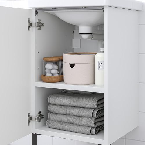 TVÄLLEN/ENHET - 浴室貯物組合 10件裝, white/anthracite Saljen tap | IKEA 香港及澳門 - PE810623_S4