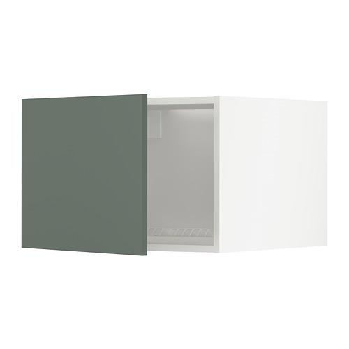 METOD - top cabinet for fridge/freezer, white/Bodarp grey-green | IKEA Hong Kong and Macau - PE754734_S4