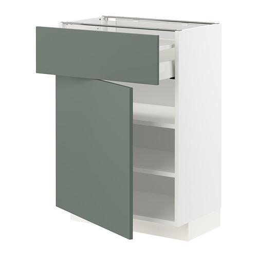 METOD/MAXIMERA - base cabinet with drawer/door, white/Bodarp grey-green | IKEA Hong Kong and Macau - PE754762_S4
