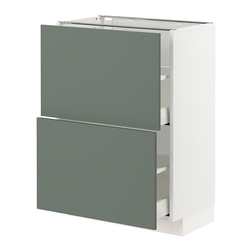 METOD/MAXIMERA - base cabinet with 2 drawers, white Bodarp/grey-green | IKEA Hong Kong and Macau - PE754764_S4