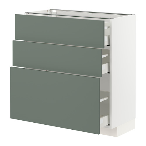 METOD/MAXIMERA base cabinet with 3 drawers