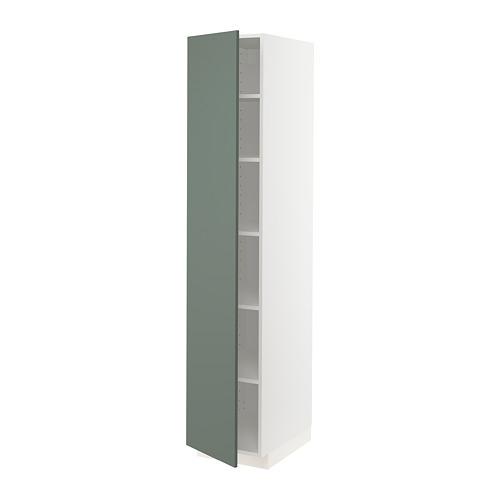 METOD - high cabinet with shelves, white/Bodarp grey-green | IKEA Hong Kong and Macau - PE754773_S4