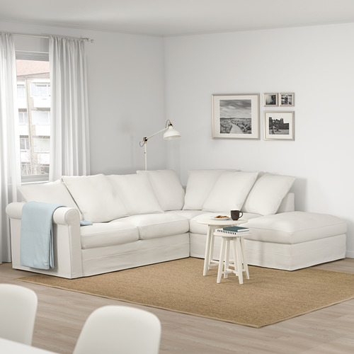 GRÖNLID - corner sofa, 4-seat, with open end/Inseros white | IKEA Hong Kong and Macau - PE675004_S4