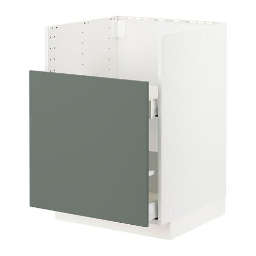 METOD/MAXIMERA - bc f BREDSJÖN snk/1 frnt/2 drws, white/Bodarp grey-green | IKEA Hong Kong and Macau - PE754878_S4