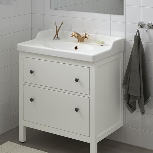 HEMNES/RÄTTVIKEN - wash-stand with 2 drawers, white/Runskär tap | IKEA Hong Kong and Macau - PE810668_S4