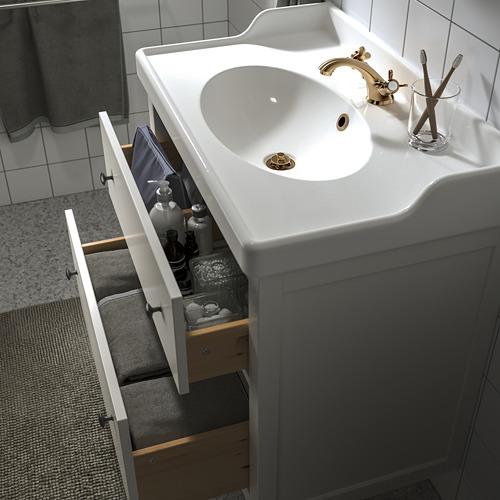 HEMNES/RÄTTVIKEN - wash-stand with 2 drawers, white/Runskär tap | IKEA Hong Kong and Macau - PE810666_S4