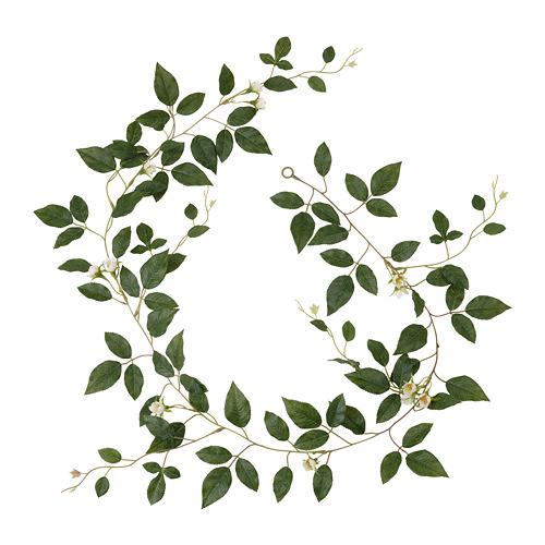 SMYCKA - 人造花環, 室內/戶外用 玫瑰/白色 | IKEA 香港及澳門 - PE810682_S4
