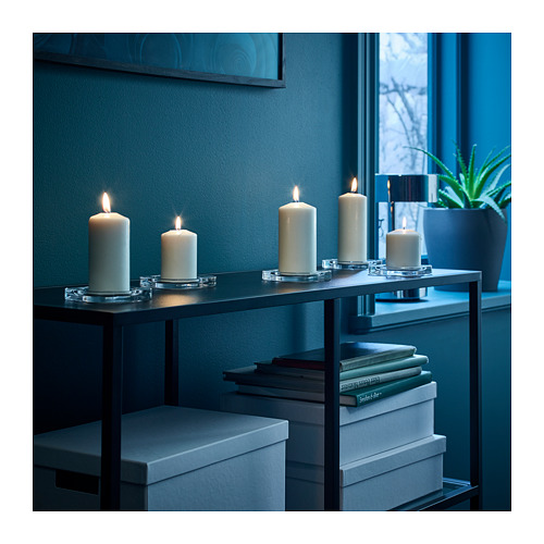 FENOMEN - 柱形蠟燭,5件套裝, 原色 | IKEA 香港及澳門 - PE714892_S4
