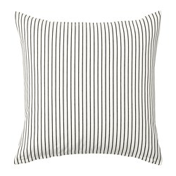 INGALILL - cushion cover, white/dark grey striped | IKEA Hong Kong and Macau - PE714952_S3