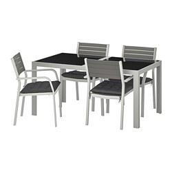 SJÄLLAND - 戶外檯連扶手椅組合, 玻璃/Hållö 黑色   IKEA 香港及澳門 - PE715012_S3