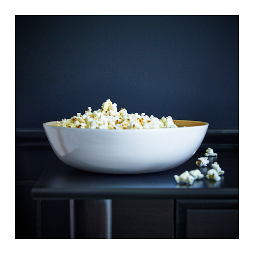 RUNDLIG - serving bowl, bamboo/white, 30 cm   IKEA Hong Kong and Macau - PE383352_S4