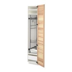METOD/MAXIMERA - high cabinet with cleaning interior, white/Torhamn ash | IKEA 香港及澳門 - PE715205_S3