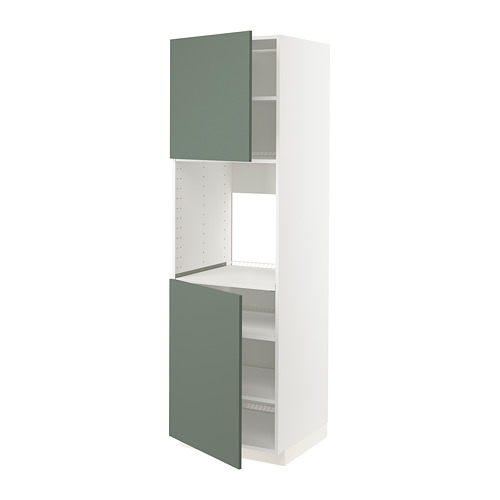 METOD - high cab f oven w 2 doors/shelves, white/Bodarp grey-green   IKEA Hong Kong and Macau - PE754960_S4