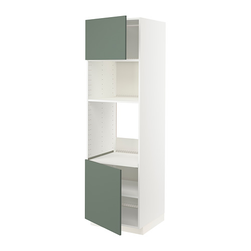 METOD - hi cb f oven/micro w 2 drs/shelves, white/Bodarp grey-green   IKEA Hong Kong and Macau - PE754964_S4
