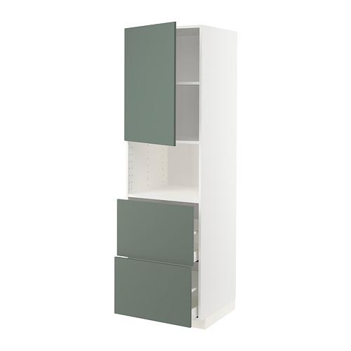 METOD/MAXIMERA - hi cab f micro w door/2 drawers, white/Bodarp grey-green | IKEA Hong Kong and Macau - PE754973_S4