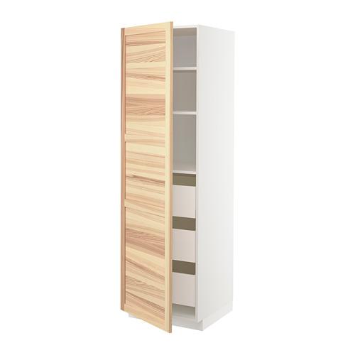 METOD/MAXIMERA - high cabinet with drawers, white/Torhamn ash | IKEA 香港及澳門 - PE715107_S4