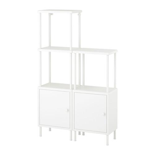 DYNAN - 層架組合連2個貯物櫃, 白色   IKEA 香港及澳門 - PE612740_S4