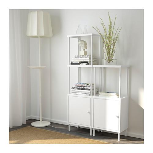 DYNAN - 層架組合連2個貯物櫃, 白色   IKEA 香港及澳門 - PE612741_S4