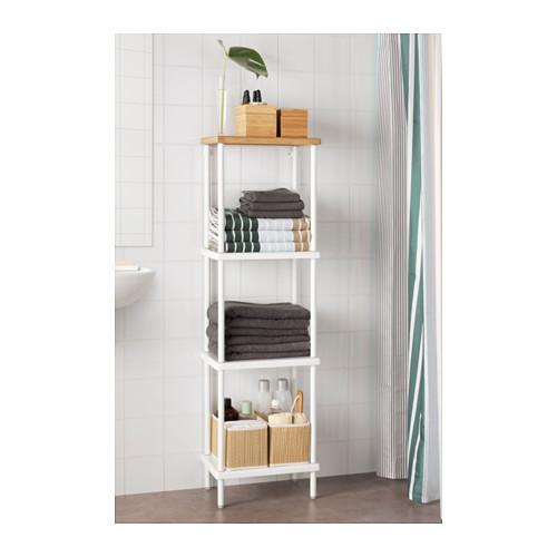 DYNAN - 層架組合, 白色/竹紋   IKEA 香港及澳門 - PE612738_S4