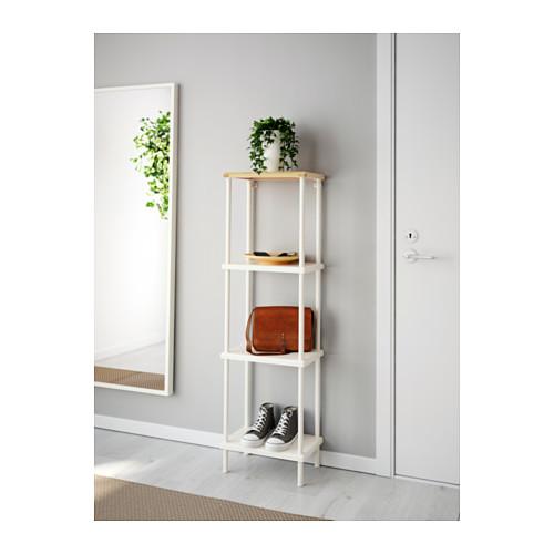 DYNAN - 層架組合, 白色/竹紋   IKEA 香港及澳門 - PE612749_S4