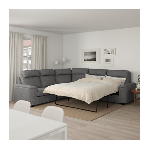 LIDHULT corner sofa-bed, 5-seat