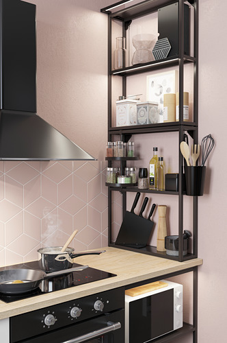 SKYDRAG - LED櫃台板抽屜燈附感應器, 可調式 炭黑色   IKEA 香港及澳門 - PH174274_S4