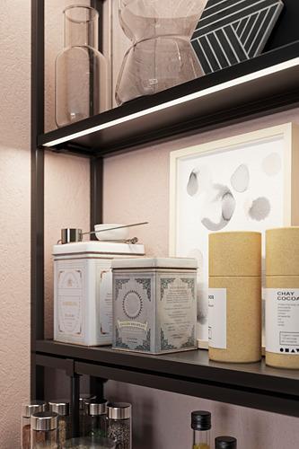 SKYDRAG - LED櫃台板抽屜燈附感應器, 可調式 炭黑色   IKEA 香港及澳門 - PH174275_S4