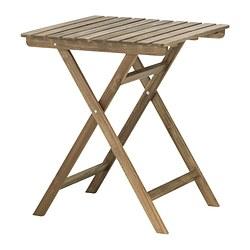 ASKHOLMEN - 戶外檯, 可摺合 染淺褐色 | IKEA 香港及澳門 - PE324347_S3