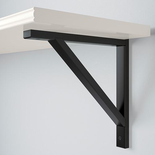 EKBY VALTER/BERGSHULT - 層板, 白色/黑色   IKEA 香港及澳門 - PE715406_S4