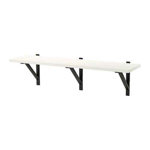 EKBY VALTER/BERGSHULT - 層板, 白色/黑色   IKEA 香港及澳門 - PE715417_S4