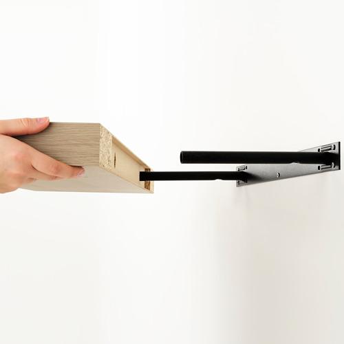 LACK/KALLAX - storage combination with shelf, white stained oak effect | IKEA Hong Kong and Macau - PE715450_S4