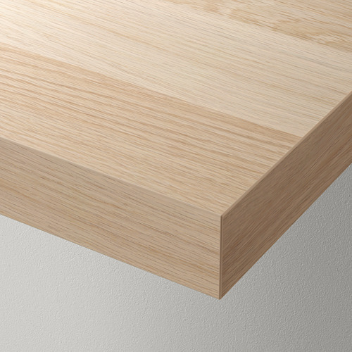 LACK/KALLAX - storage combination with shelf, white stained oak effect | IKEA Hong Kong and Macau - PE715446_S4