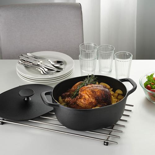 VARDAGEN - casserole with lid, cast iron | IKEA Hong Kong and Macau - PE755499_S4