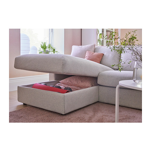 VIMLE - 3-seat sofa-bed with chaise longue, Gunnared beige | IKEA Hong Kong and Macau - PH145984_S4