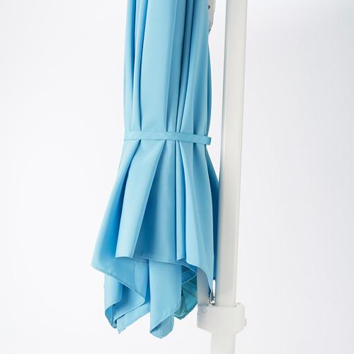 HÖGÖN - parasol, hanging with base, light blue/Svartö dark grey   IKEA Hong Kong and Macau - PE755633_S4