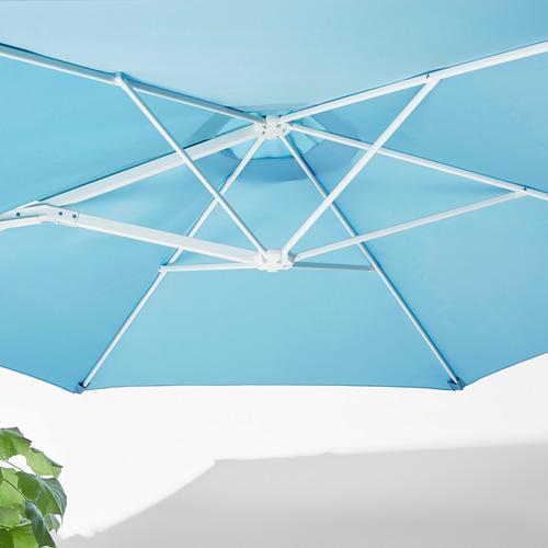 HÖGÖN - parasol, hanging with base, light blue/Svartö dark grey   IKEA Hong Kong and Macau - PE755636_S4