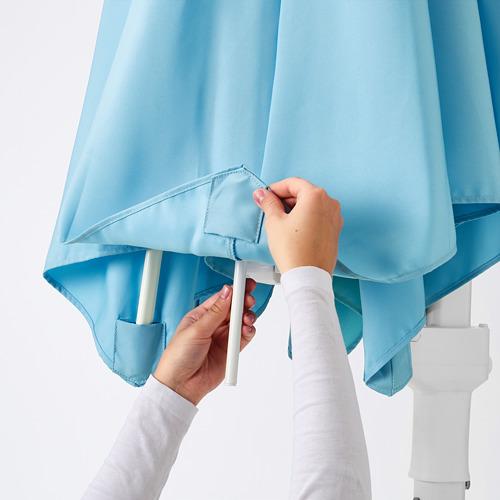 HÖGÖN - parasol, hanging with base, light blue/Svartö dark grey   IKEA Hong Kong and Macau - PE755635_S4