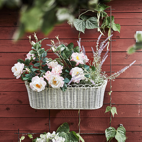 GALIAMELON - flower box with holder, in/outdoor white | IKEA Hong Kong and Macau - PE811103_S4