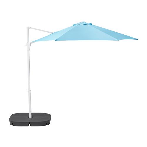 HÖGÖN - parasol, hanging with base, light blue/Svartö dark grey   IKEA Hong Kong and Macau - PE755549_S4