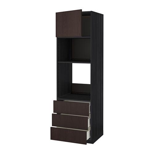 METOD - high cab f oven/micro w dr/3 drwrs, black Förvara/Ekestad brown   IKEA Hong Kong and Macau - PE550818_S4