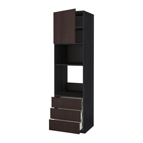 METOD - high cab f oven/micro w dr/3 drwrs, black Förvara/Ekestad brown | IKEA Hong Kong and Macau - PE550835_S4