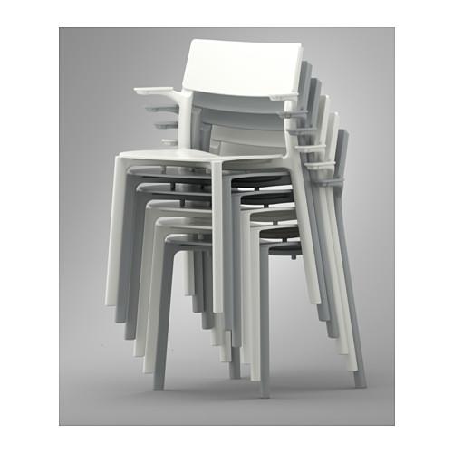JANINGE - chair with armrests, white | IKEA Hong Kong and Macau - PE551329_S4