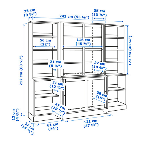 HAVSTA - storage comb w sliding glass doors, grey | IKEA Hong Kong and Macau - PE755625_S4