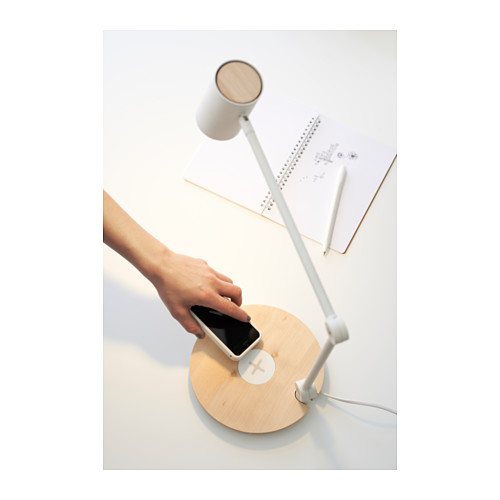 RIGGAD - LED work lamp w wireless charging, white | IKEA Hong Kong and Macau - PH124211_S4