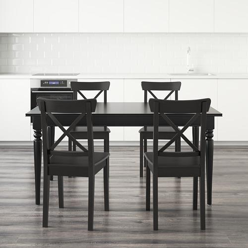 INGATORP/INGOLF - table and 4 chairs, black/brown-black   IKEA Hong Kong and Macau - PE595115_S4