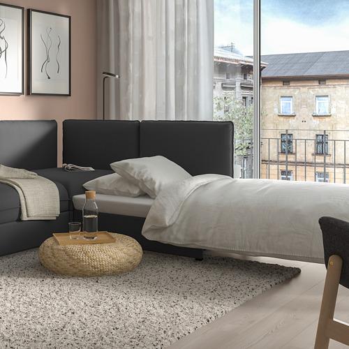 VALLENTUNA - modular corner sofa 3-seat+sofa-bed, and storage/Kelinge anthracite | IKEA Hong Kong and Macau - PE811191_S4