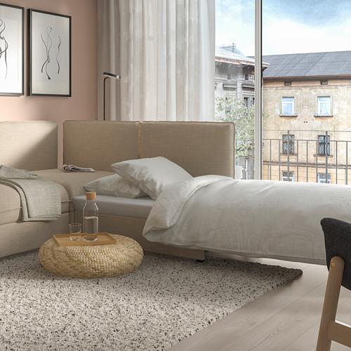 VALLENTUNA - 梳化床組合, 連貯物/Hillared 米黃色 | IKEA 香港及澳門 - PE811194_S4