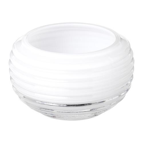 INBJUDEN - 燭燈座, 玻璃 白色   IKEA 香港及澳門 - PE811208_S4