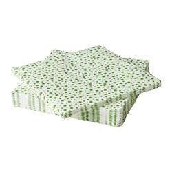 INBJUDEN - 餐紙巾, 白色/綠色 | IKEA 香港及澳門 - PE811219_S3